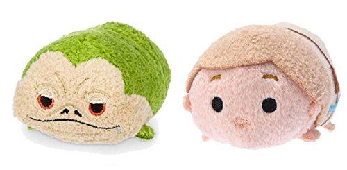 Mini Disney Tsum Tsum Plush Star Wars Bundle Set of 2 Tsum's- Jabba the Hut and Luke Skywalker