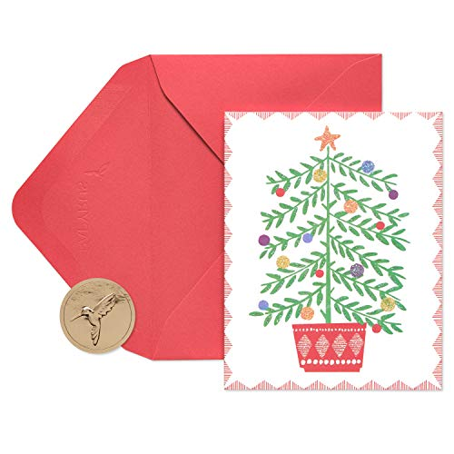 Papyrus 5650464 Holiday Cards Boxed, Christmas Tree in Pot (20-Count)