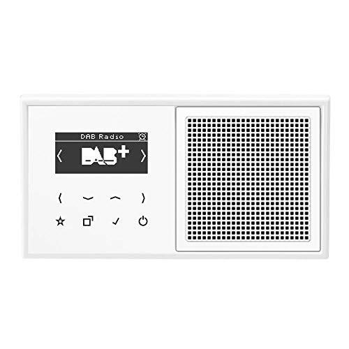 Jung Smart Radio DAB Komplett-Set Weiß Serie LS DABLS1WW mit Lautsprecher und 2-Fach Rahmen LS982WW