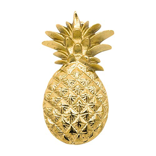 """Pineapple Door Knocker; That is Beautifully Constructed in a Premium Size 8"""" x 4"""". This Lightweight Door Knocker Weighs only 11 Ounces and Boasts a Vibrant Shiny Gold Color."""