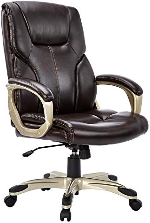 AmazonBasics Büro-Chefsessel, Hhenverstellbar, mit hoher Rückenlehne - Braun