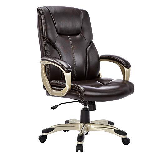 AmazonBasics Chaise de Bureau, Hauteur réglable - Marron