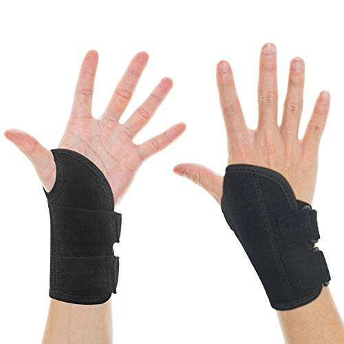 Wrist Brace for Carpal Tunnel Wrist Brace Women Men, Adjustable Wrist Fitted Stabilizer of Breathable Wrist Wraps for Weightlifting,Sports, Sprains, Arthritis and Tendinitis - Right Hand, Medium