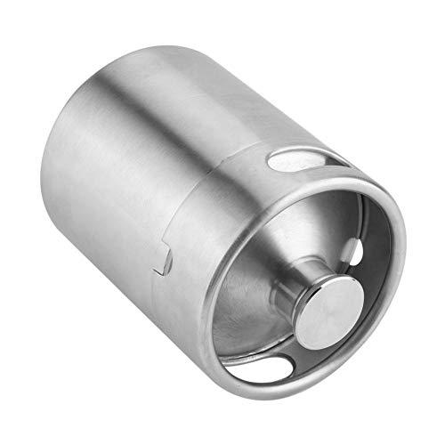 Bote de cerveza, mini barril de cerveza de acero inoxidable adecuado para almacenar cerveza, utilizado en barbacoa de fiesta con amigos o familiares (3.6L)(2L)