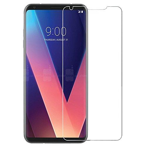 [2 unidades] Película protetora de tela LG V30, LG V30+ de vidro temperado, protetor de tela transparente HD para LG V30 de 6,0 polegadas, LG V30+
