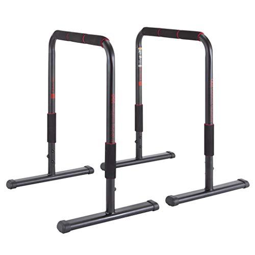 Indoor Home Gym Heavy Duty Station Bars Station Funktionale Heavy Duty Dip Steht Fitness Workout Dip Bar Station Stabilisator (Color : Black)