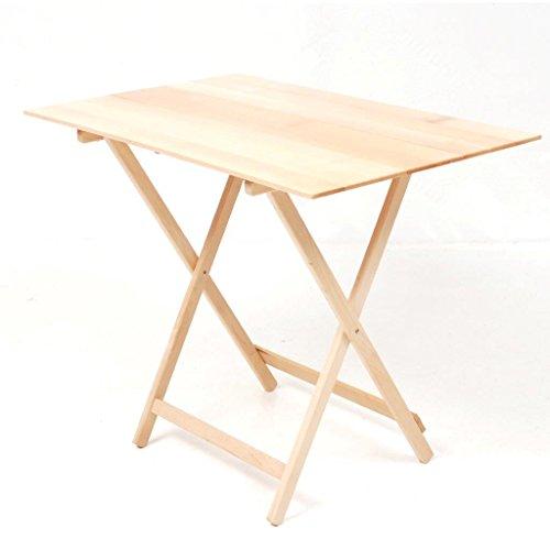 Sal Mar Table pliable en bois de hêtre, plateau en lattes de bois et réglable sur 3 hauteurs.