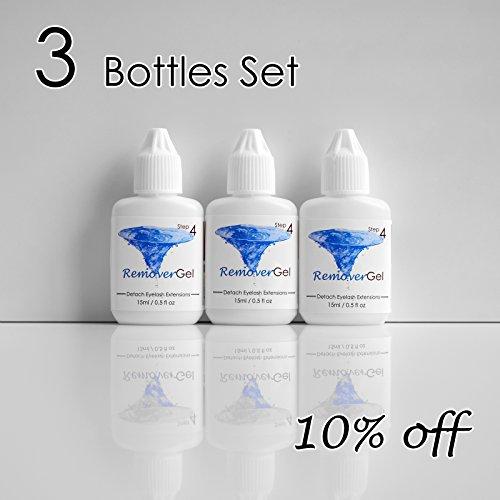 [3-bottle Set:10% Off ] 15ml Mia Gel Remover for Detaching Eyelash Extension Glue Adhesive Safe Medical Grade (3 Bottles(10% Off))