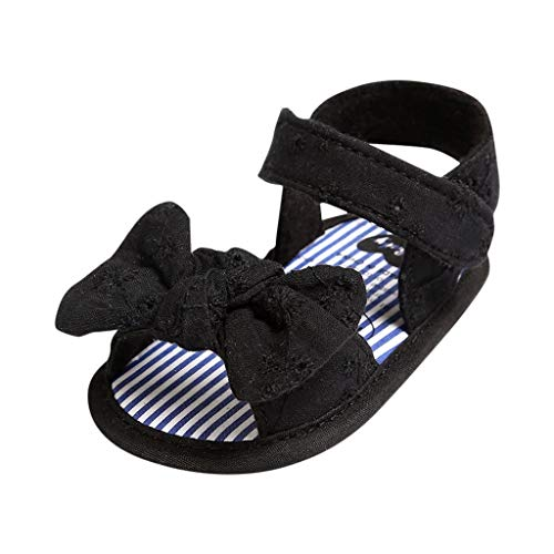 12-18 Months Baby Shoes Toddler Kid Baby Girls Princess Cute Toddler First Walk Summer Sandals Shoes Black