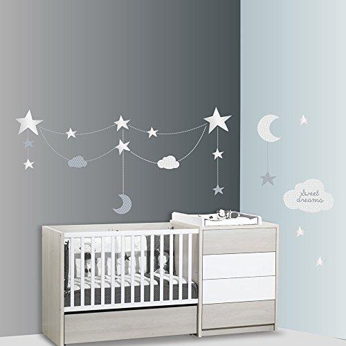 SAUTHON BABY DECO - Stickers xxl nuage céleste