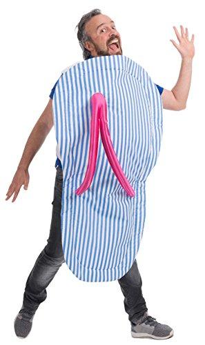 Disfraz de Chancla Azul para adulto