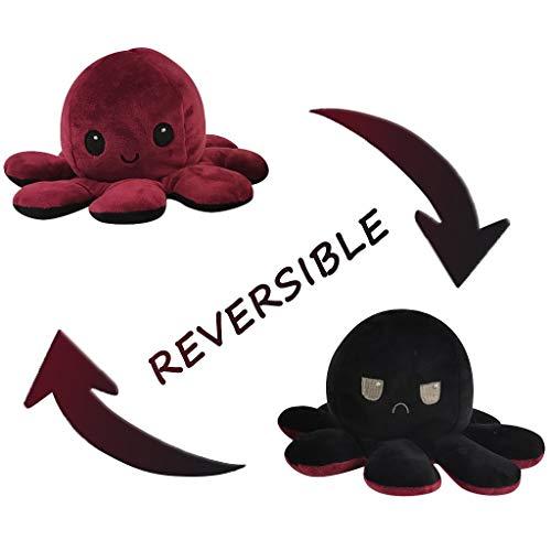 Nette Octopus Plüsch reversible weiche weiche kreative Spielzeug Geschenke für Kinder Familie Freunde Spielzeug Octopus Doll Flip doppelseitige Kuscheltierpuppe 1 Stück