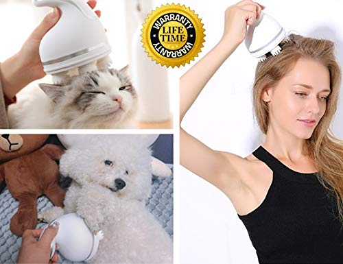 Cat Massager, Scalp Massager, USB Charging 3D Head...