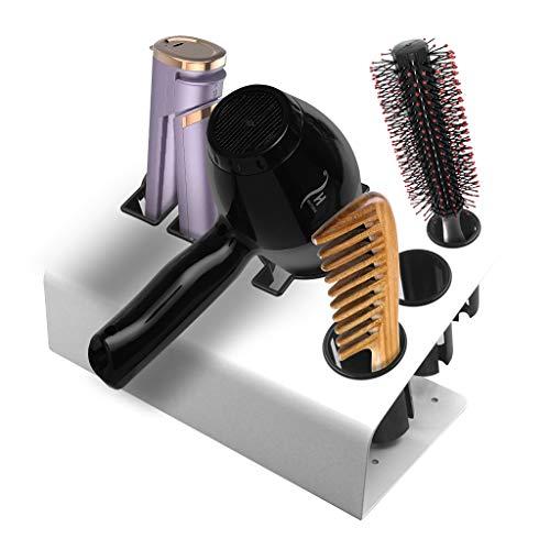 OCTOPODIS - Haarpflege & Organizer für Stylingprodukte, Aufbewahrungshalter für Haartrockner, Föhn-Halter, Lockenstab-Halter und Glätteisen-Halter, Haarstyling-Werkzeuge und Zubehör (Weiss)