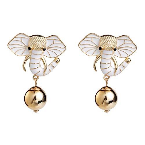 Vvff White Elephants Dangle Earrings Female Women Party Wedding Jewelry Gift