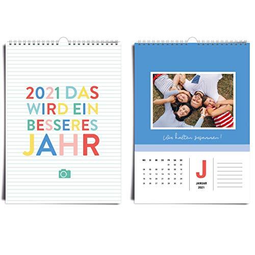 Calendario de fotos A4 2020, calendario para manualidades, año creativo, colorido, alegre, personaliza tu calendario, manualidades y regala