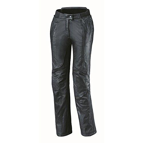 Held Lena modische Motorrad Damen Lederhose, Farbe schwarz, Größe 40