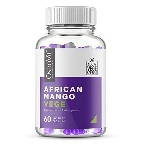 OstroVit African Mango - 1 paquete x 60 cápsulas veganas - Quemador de grasa - Ayuda para adelgazar - Suplemento de apoyo para la pérdida de peso