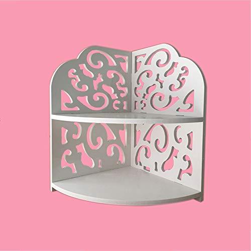 携帯用灰皿 トイレ浴室化粧台デスクトップ化粧品収納ボックストイレ防水三角コーナー棚家庭用多機能収納シンプルな家族棚 (サイズ : M)