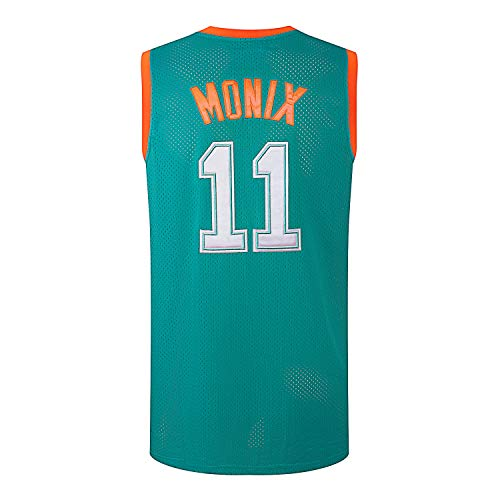 AFLGO Ed Monix #11 Flint Tropics Semi-Pro Stitched Basketball Jersey (X-Large, Green)