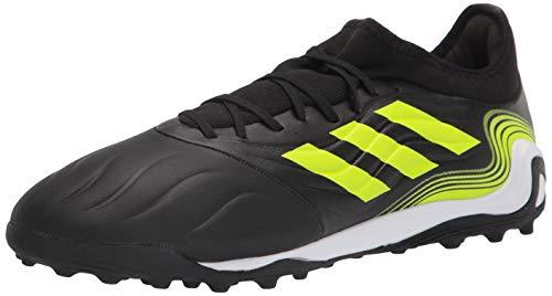 adidas Men's Copa Sense.3 Turf Soccer Shoe, Black/White/Solar Yellow, 10