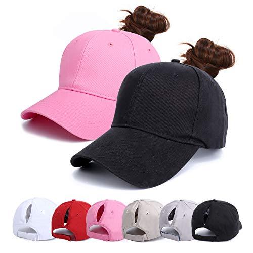 Beisbol Gorra para Mujer - Cola de Caballo Gorras de, Ajustable Algodón Sombrero eportes Clásica de Sol Hat Verano Cap Gorra de béisbol Camionero