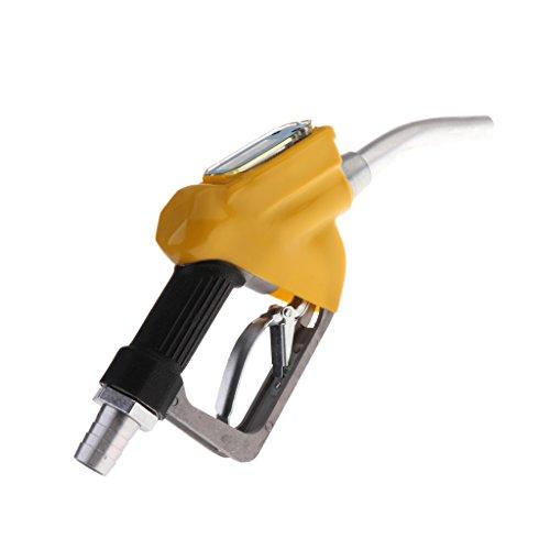 Baoblaze Pistolet Gasoil Pompe de Transfert de Carburant Diesel d'Huile - Jaune