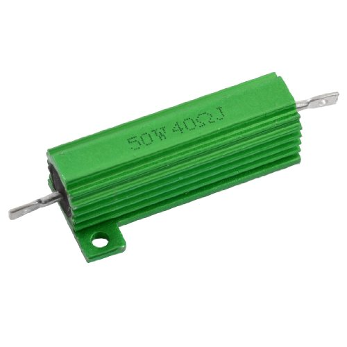 Aexit Aluminum Case Fixed Resistors Chassis Mounted 50W Watt 40 Ohm Single Resistors Wirewound Resistor