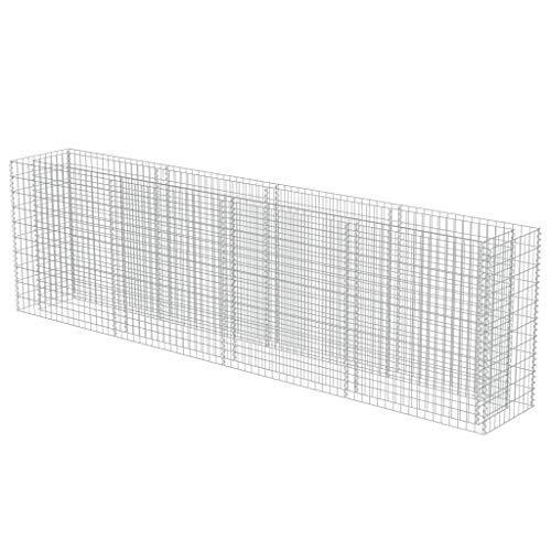 vidaXL Gabionen Hochbeet Verzinkter Stahl 360x50x100 cm Pflanzkorb Steinkorb