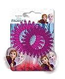 TrendyMaker Disney Frozen 2, Eiskönigin Haarschmuck Set - 2 Spiralgummi, Haargummi, Haarband, Zöpfchenhalter mit Herzmotiv, ELSA und Anna