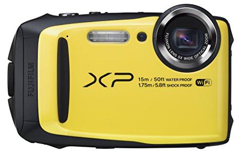 "Fujifilm FinePix XP90 - Cámara digital compacta de 16 MP (sensor BSI-CMOS, zoom óptico 5x, gran angular de 28 mm, pantalla LCD de 3"", estabilizador de imagen, ISO 6400, Full HD, WiFi), amarillo"