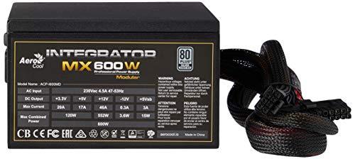 Aerocool Integrator MX 600W Professional Power Supply Modular, 80 Plus...