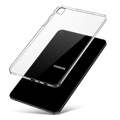 J&D Compatibile per Cover Samsung Galaxy Tab A 8.0 & S Pen (2019) (P205), Cuscino Sottile Paraurti Leggero Trasparente Urto Resistente Clear TPU Tablet Custodia Case Clear, Non per Tab A 8.0 2019