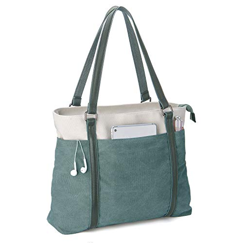 Iswee Women Laptop Tote Bag Canv...