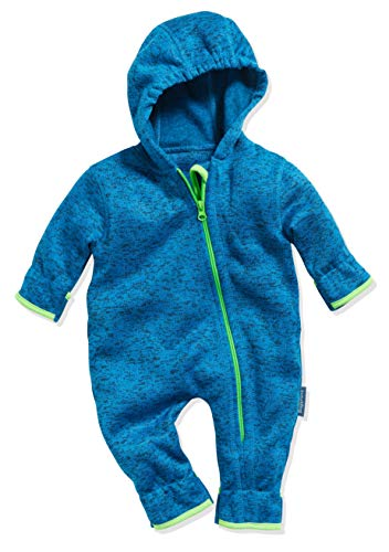 Playshoes Baby-Unisex Strickfleece-Overall Schneeanzug, Blau (Blau 7), 86