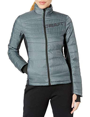 Craft Damen Protect Jacket W bl S Jacke, Dk Grey Melange/Black, S