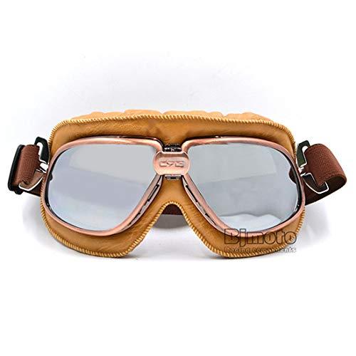 DYHXMJ Gafas de Moto Vintage Gafas de Moto piloto Gafas Gafas de...