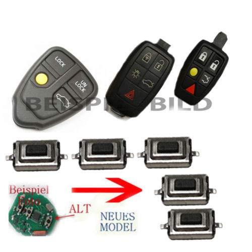 Lot de 5 boutons de commande pour télécommande S60 V70 S80 XC70 XC90