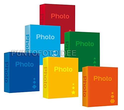 Zep 3 Album Fotografici Basic con memo per 900 Foto (300 cad.) Formato 13x19 13x18 12x18 cm - Portafoto a Tasche 13x19 cm - Vari Colori - 3 pz.