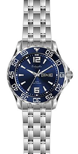 Eichmüller - Reloj de Buceo Deportivo para Hombre, con indicador de Fecha, Bisel Giratorio e indicador Luminoso, 200 m