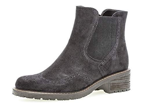 Gabor Damen Stiefelette 36.091, Frauen Chelsea Boots,Stiefel,Halbstiefel,Bootie,Schlupfstiefel,hoch,Pazifik (Mel.),39 EU / 6 UK