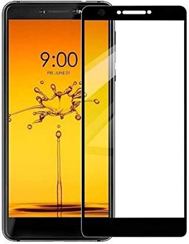 EASYBIZZ Edge to Edge Black Tempered Glass Screen Protector for Nokia C3