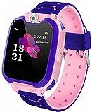 Orologi intelligenti per giochi per bambini: orologi musicali MP3, 7 orologi per giochi per bambini, adatti a regali di compleanno per ragazzi e ragazze (inviare una carta D da 8 GB) (rosa)
