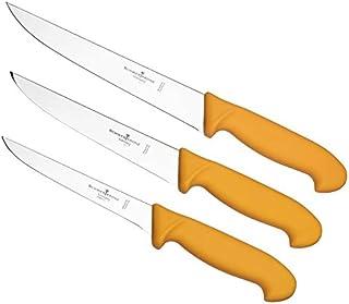 Schwertkrone Metzgermesser Set Solingen - 3-teilig, Edelstahl, rostfrei