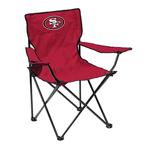 Logo Brands Officially Licensed NFL Unisex Quad Chair, One Size, San Francisco 49ers