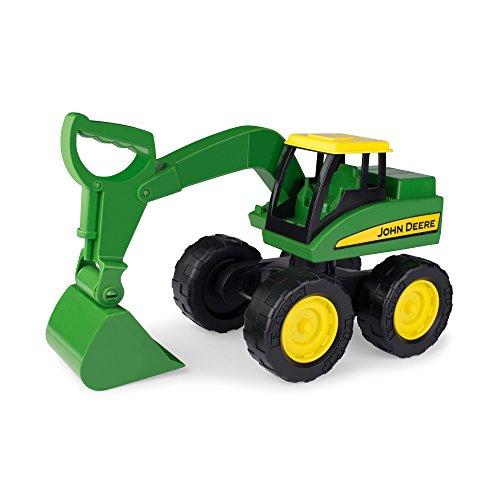 Spielzeugtraktor John Deere Big Scoop in grün, stabiler & robuster Kinderspielzeug Bagger aus Kunststoff für den Sandkasten, zum Spielen und Sammeln, ab 3 Jahre, Kinder Autos, Spielzeug für Jungen