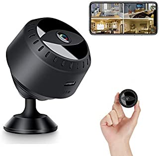 Mini Spy Hidden Camera, 1080P Full HD Wireless WiFi Security Video Camera with Night Vision and Motion Detection, Portable...