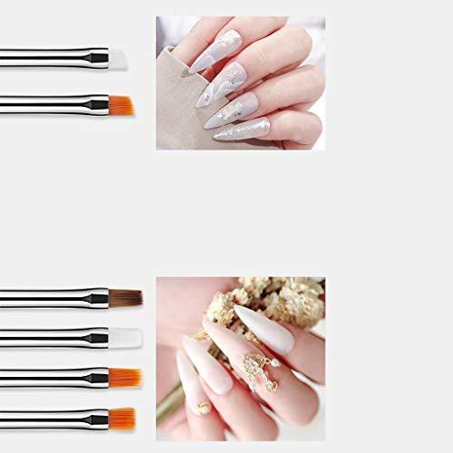 HoneyGod Nail Art Supplies with 15Pcs Brushes Set with 5Pcs Dotting Pens - 3D 2 Way Glitter Nail Diamonds Rhinestones Kit Dotting Pen Tool Dot Paint Manicure Kit Nail Art Tip Photo #5