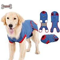 Doglemi Recovery Suit Combinaison de protection pour chiens après une chirurgie - Bandage pour abdominaux - Correspondance parfaite E-collar - Alternative anti-glissement - Surgical Recovery