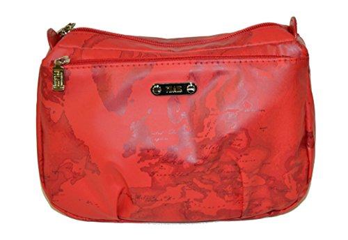 Beauty case con zip Alviero Martini prima classe rosso tre zip